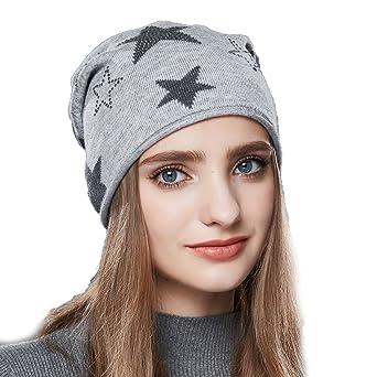 e74ab839abc58 URSFUR Bonnet Court Jersey Chapeau Bonnet Beanie Femme Hommes Enfant Motif  Étoile Hip-Hop Hiver armée vert: Amazon.fr: Vêtements et accessoires