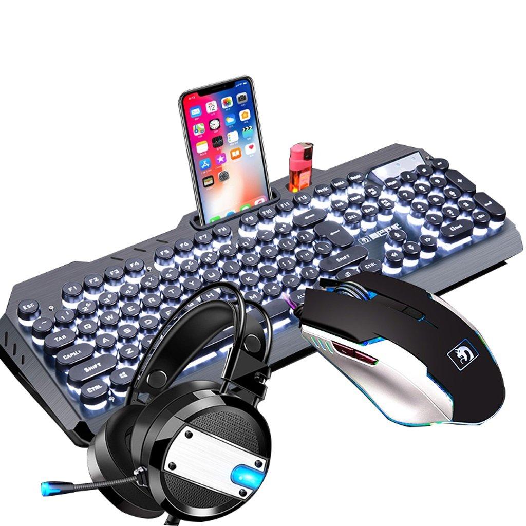 メカニカルゲーム用キーボードとマウス :、マイクロフォンコンボ付きゲーム用ヘッドセット、ゲーム用マウス、キーメカニカルゲーム用キーボード (Color : B07FSHC6ZP White) (Color B07FSHC6ZP, 左京区:e5aadb04 --- elmont.su