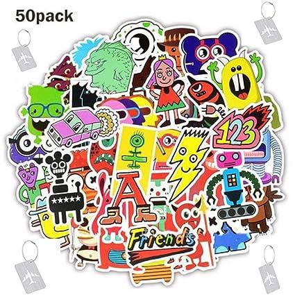 Amazon com: 50 PCS DIY Stickers Small Monster Cartoon