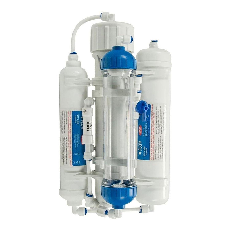 Marine Filtro de agua compacto 3 fases por osmosis reversa para Acuario Discus Tropical Fish