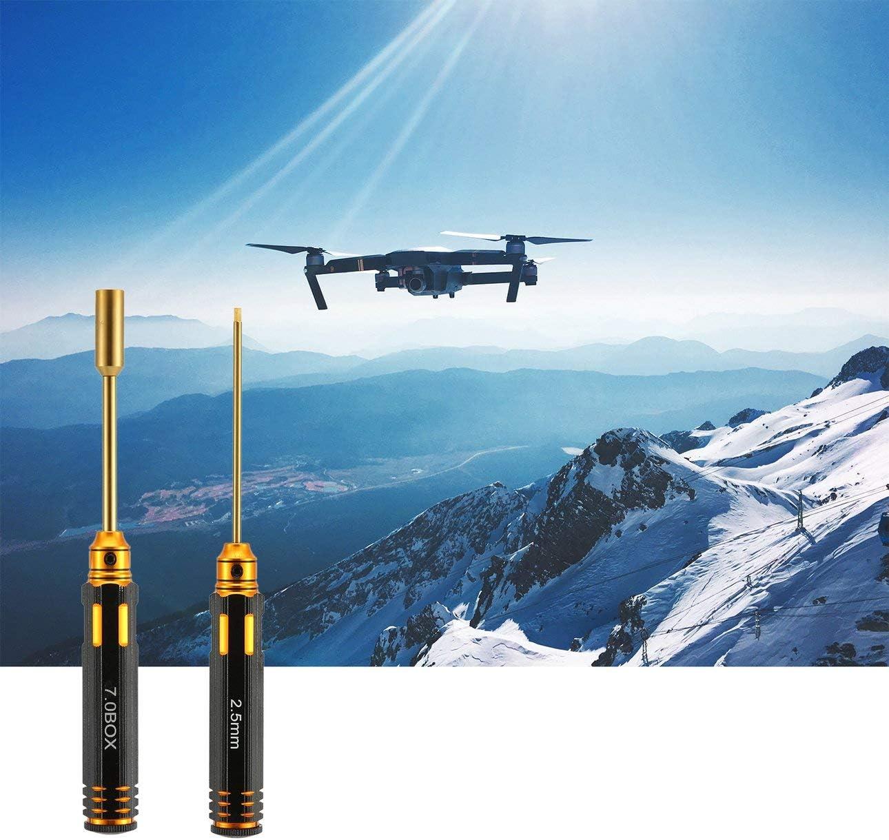 mm Wei/ß Stahl Hex Schraubendreher Tool Kit f/ür RC Hubschrauber Auto Drohne Modell Reparatur Werkzeuge Ballylelly 8 St/ücke 1,5//2,0//2,5//3,0//5,5//7,0//4//4