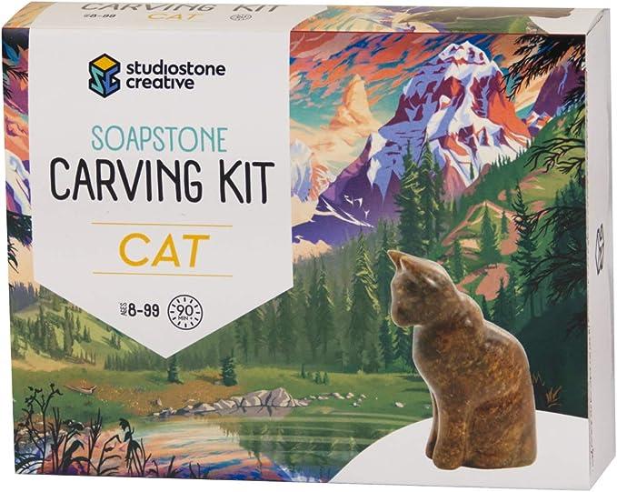 Cat Kitten soap stone Carving