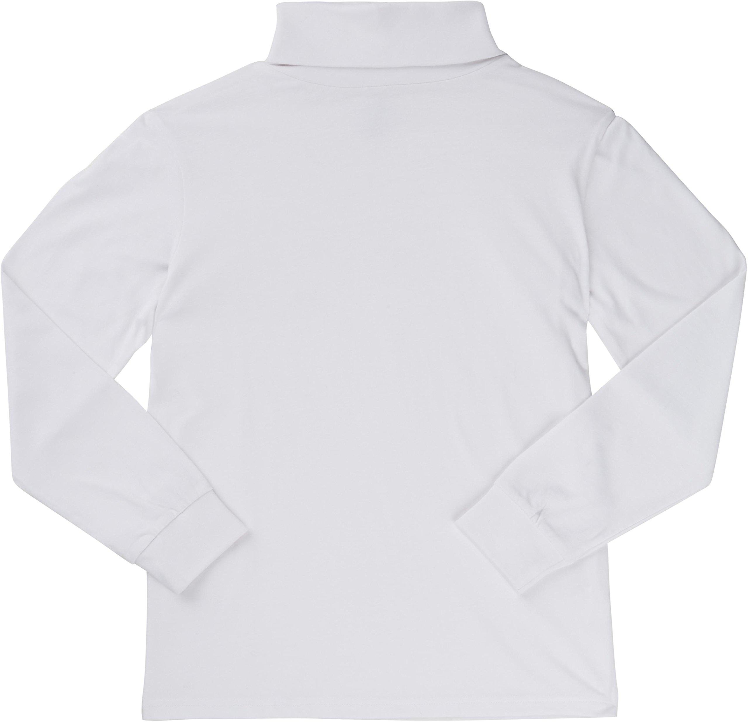 French Toast School Uniform Boys Long Sleeve Turtleneck T-Shirt, White, 5