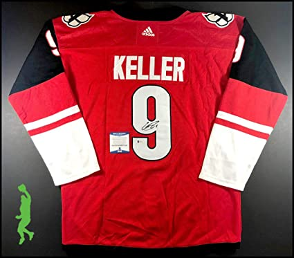 be177c2a503 Image Unavailable. Image not available for. Color: Clayton Keller  Autographed Signed Arizona Coyotes Hockey Jersey Beckett Authentic COA