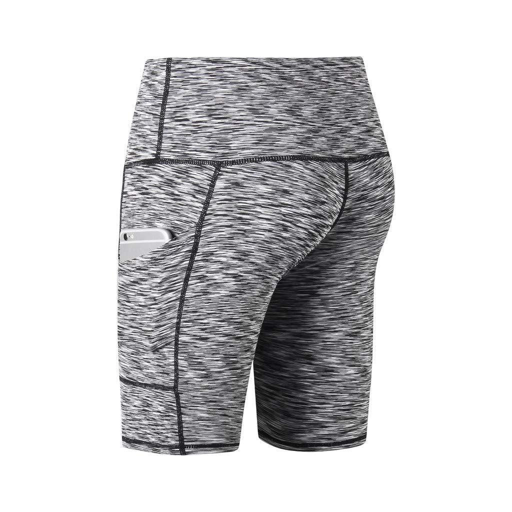 Amazon.com: Shybuy Fitness Pants, High Waist Pocket Yoga ...