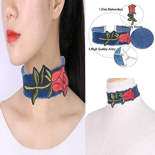 Mingjun cara sonriente y piña Gargantilla Collar Conjunto Rosa ...