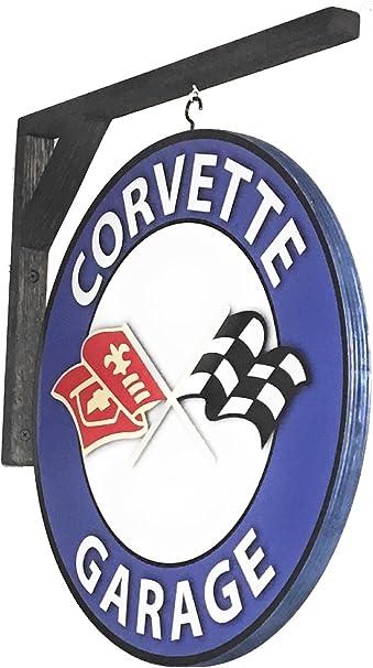 Chevrolet Corvette Emblem Desk Plaque Unique automotive art with an original vehicle emblem for garage shop or man cave #AE-050