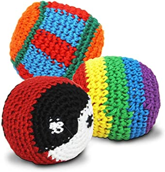S/o pack de 24 kickball hackey sac de kickball kick ball crochets ...