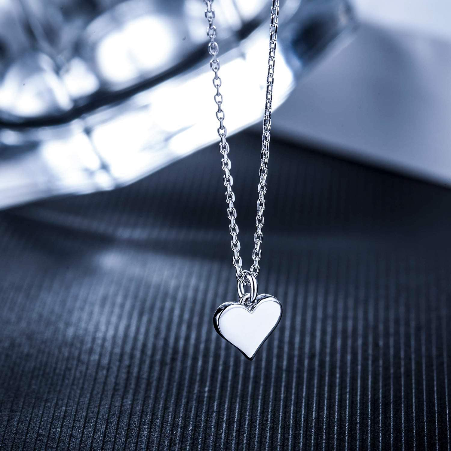 Cutout Heart Necklaces 2 Sterling Silver Necklaces Chiclove Mother Daughter Jewelry Sets for Two