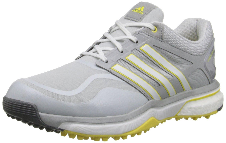 adidas Women's W Adipower S Boost Golf Shoe, Clear Grey/Running White/Light Yellow, 6 M US