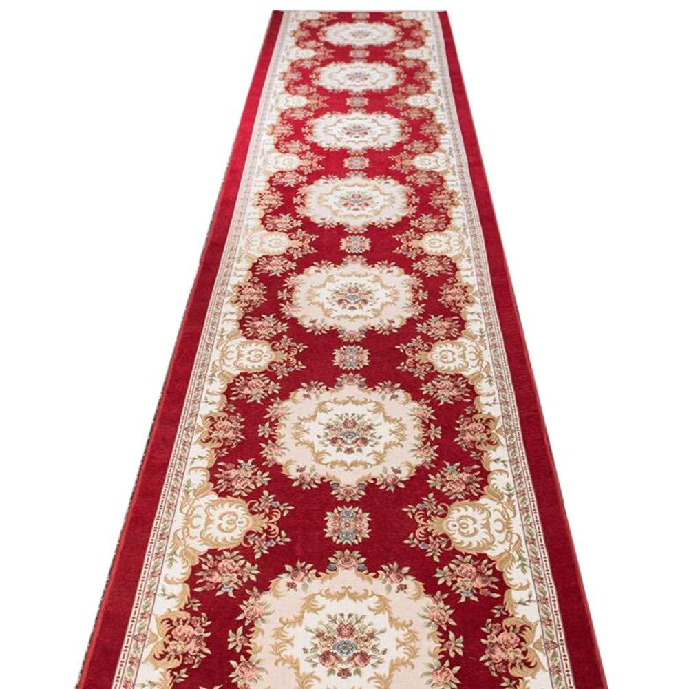 JIAJUAN 廊下のカーペット敷物 ランナー 赤 滑り止め 柔らかい キッチン ホール 生活 ダイニングルーム 長いです エリア マット ヨーロッパ式、 7mm、 複数の長さ カスタマイズ可能 (サイズ さいず : 0.9x8m) 0.9x8m  B07M78FQCH