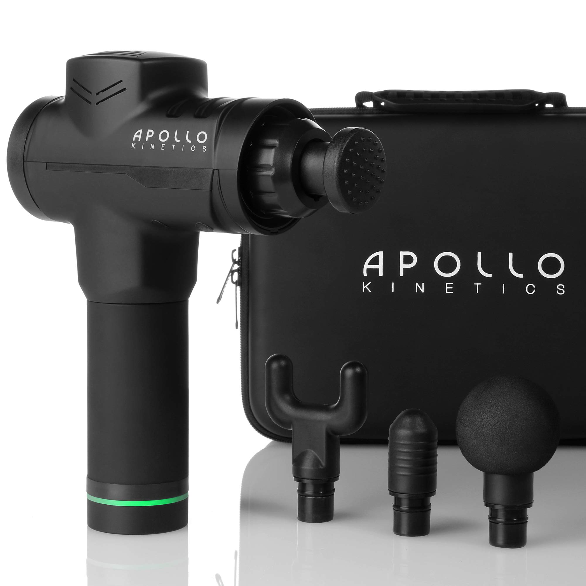 Apollo Kinetics Portable Electric Deep Tissue Percussion Massage Gun - Hand Held Cordless Design Full Body Muscle Massager Drill, Pain Relief Recovery Stimulator, Carry Case & 4 Heads Included by Apollo Kinetics