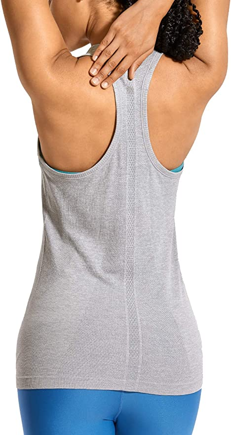 CRZ YOGA - Camiseta Espalda Nadadora Deportiva Mujer sin Mangas