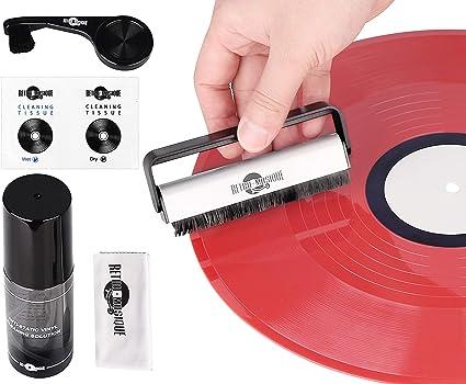 Kit de Limpieza de Discos para Discos de Vinilo con 2 Cepillos ...