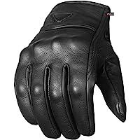 Men's Premium Leather Street Motorcycle Protective Cruiser Biker Gel Gloves XL