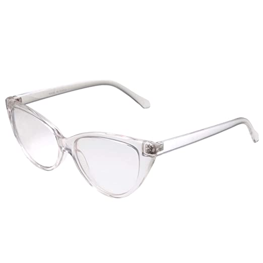80f1cf08920 grinderPUNCH Women s Cat Eye Clear Lens Retro Non Prescription Glasses