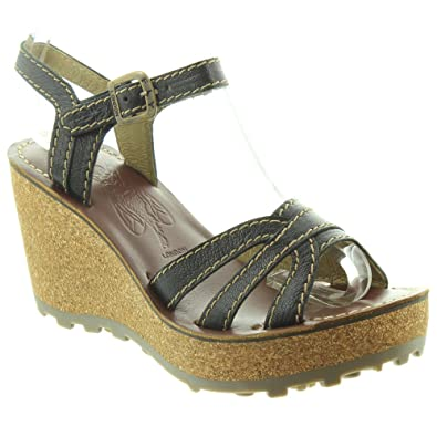 cf06dea1e848 Fly London - Ladies GORT Wedge Sandals in Black  Amazon.co.uk  Shoes   Bags