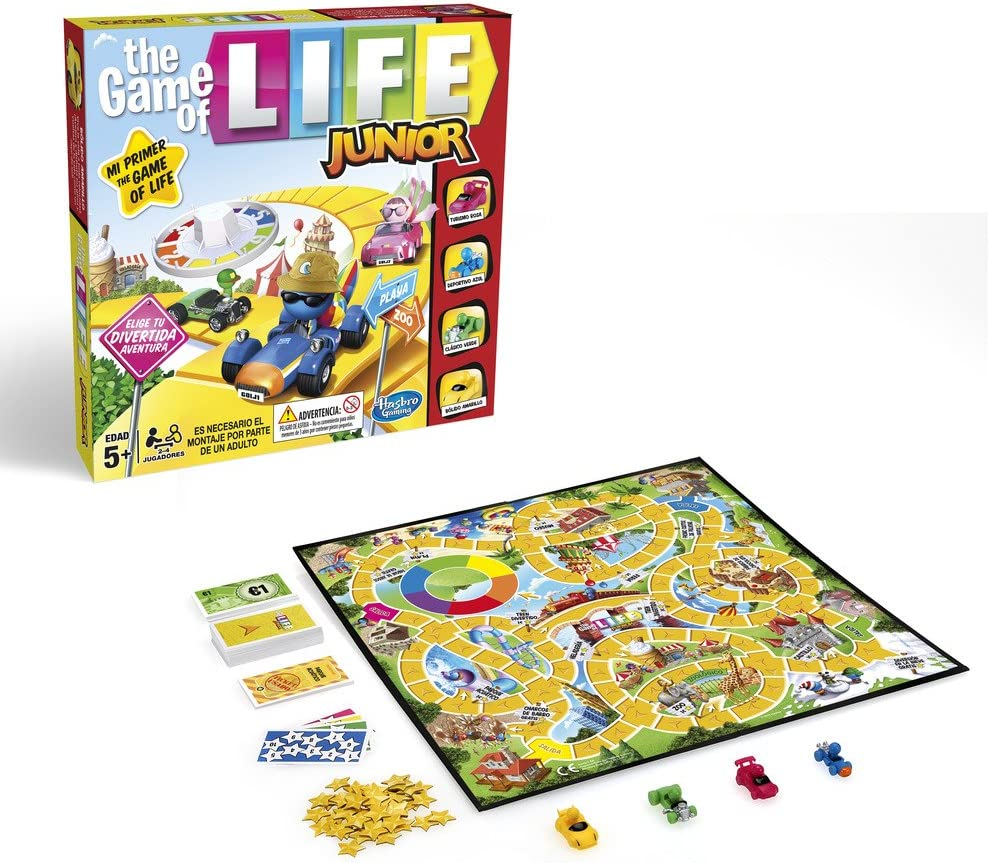 Hasbro Gaming - Clasico Game of Life Junior (B0654SC5): Amazon.es: Juguetes y juegos