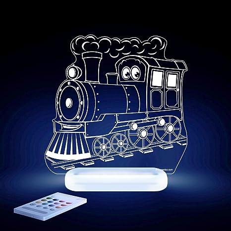 aloka Locomotora Diseño Luz nocturna – Habitación de los Niños Baby Bombilla LED cambio de color