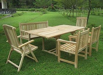 Amazonde Sam 6tlg Gartengruppe Kuba Teak Holz Gartenmöbel 1 X