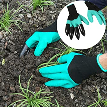 1 paires Gants de jardinage Gants de travail avec ABS ...