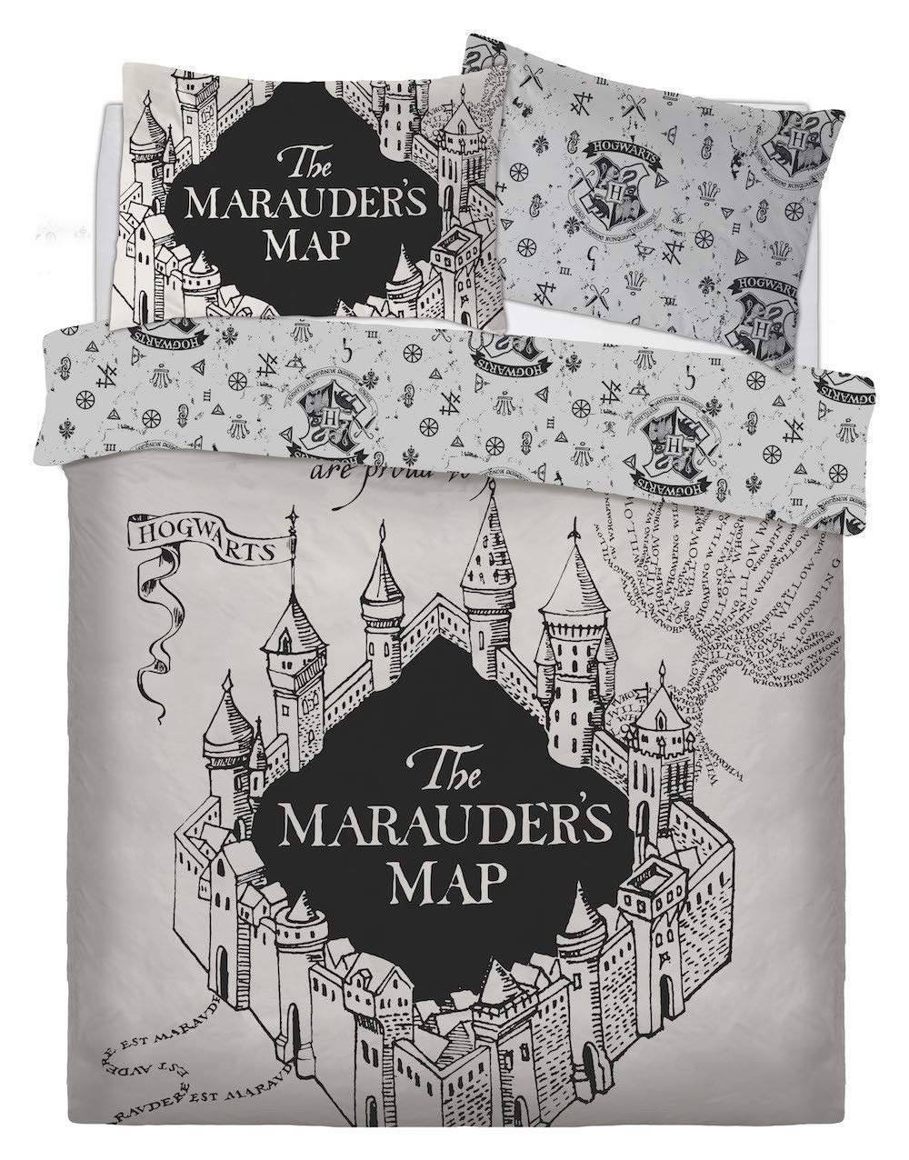"Harry Potter ""Mischief Managed - Marauder's Map DOUBLE Full Size Duvet Cover and Pillowcase Set (3 PC)"