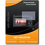 3 x SWIDO Anti-Reflective Screen Protector for Canon Powershot G3 X / G3X / G-3X - PREMIUM QUALITY (non-reflecting, hard-coated, bubble free application)