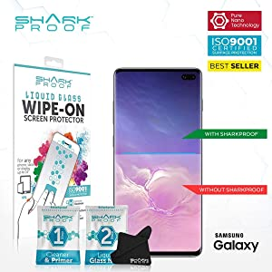 Shark Proof Liquid Glass Screen Protector - Nano Coating Ultra Thin Scratch Resistant, Water Resistant Bubble-Free Anti-Bacterial Wipe On Liquid Glass Guard for Your Phone or Tablet and Reverse Cameras