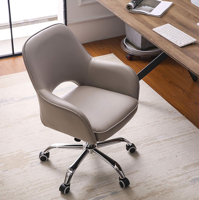 LIYANJJ PU-läder kontorsstol med massage urholkad ergonomisk stoppning lyx ryggstöd stil säte och hjul justerbar höjd för barberare hem dator # 1