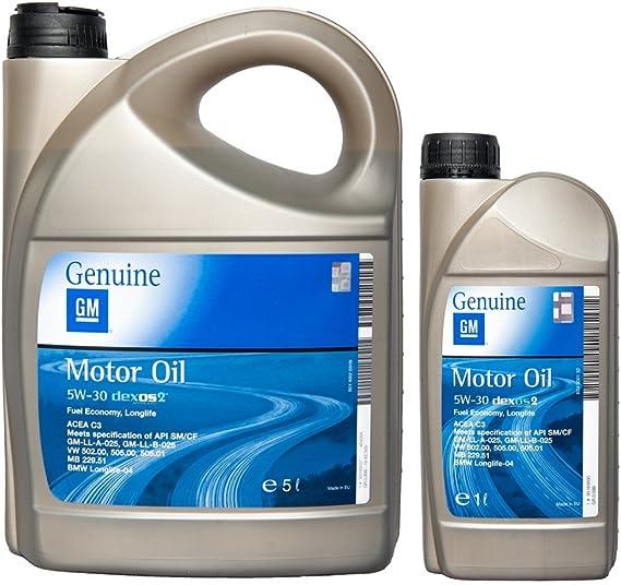 Gm Opel Motoröl 5w 30 Dexos2 6 Liter 5l 1l Auto