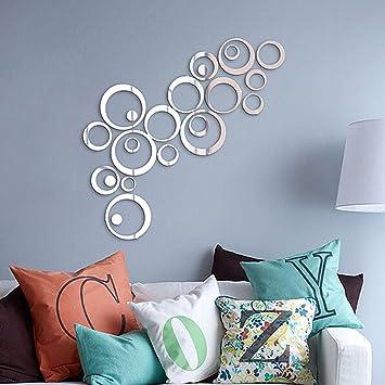 tofern diy 3d wanddekoration aufkleber moderne abnehmbarer spiegel ... - Wanddekoration Küche