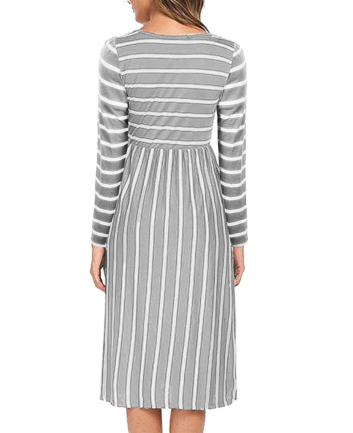 83f5a9eccac4c Hellmei Breastfeeding Tops Latched Mama, Womens Semi Formal Party Leisure  Striped Breast Feeding Dress Scoop Neck Thin Knitting Relaxed Fit Nursing  Clothing ...