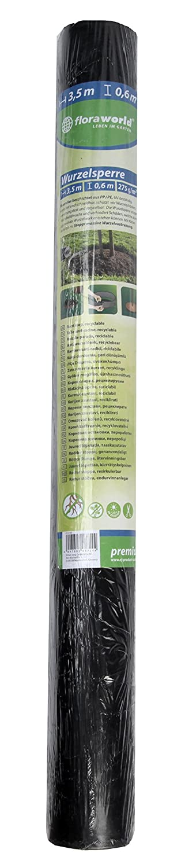 Schwarz 350 x 7 x 60 cm Floraworld 012165 Wurzelsperre Premium