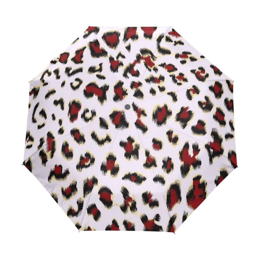 Enne paraguas leopardo paraguas lluvia resistente al viento ligero de viaje compacto plegable Paraguas fácil de llevar: Amazon.es: Deportes y aire libre