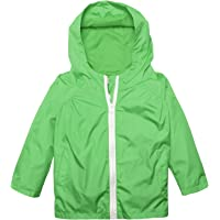 Arshiner Little Kid Waterproof Lightwight Jacket Outwear Raincoat with Hooded