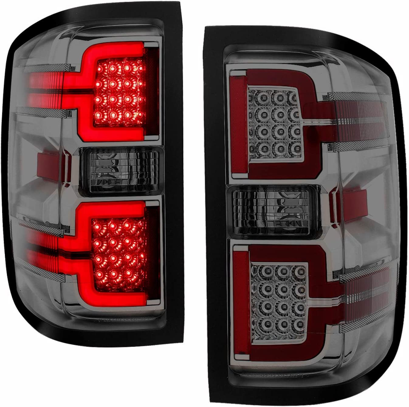 anz211090 ANZO for 2003-2015 Chevrolet Express Taillights Black