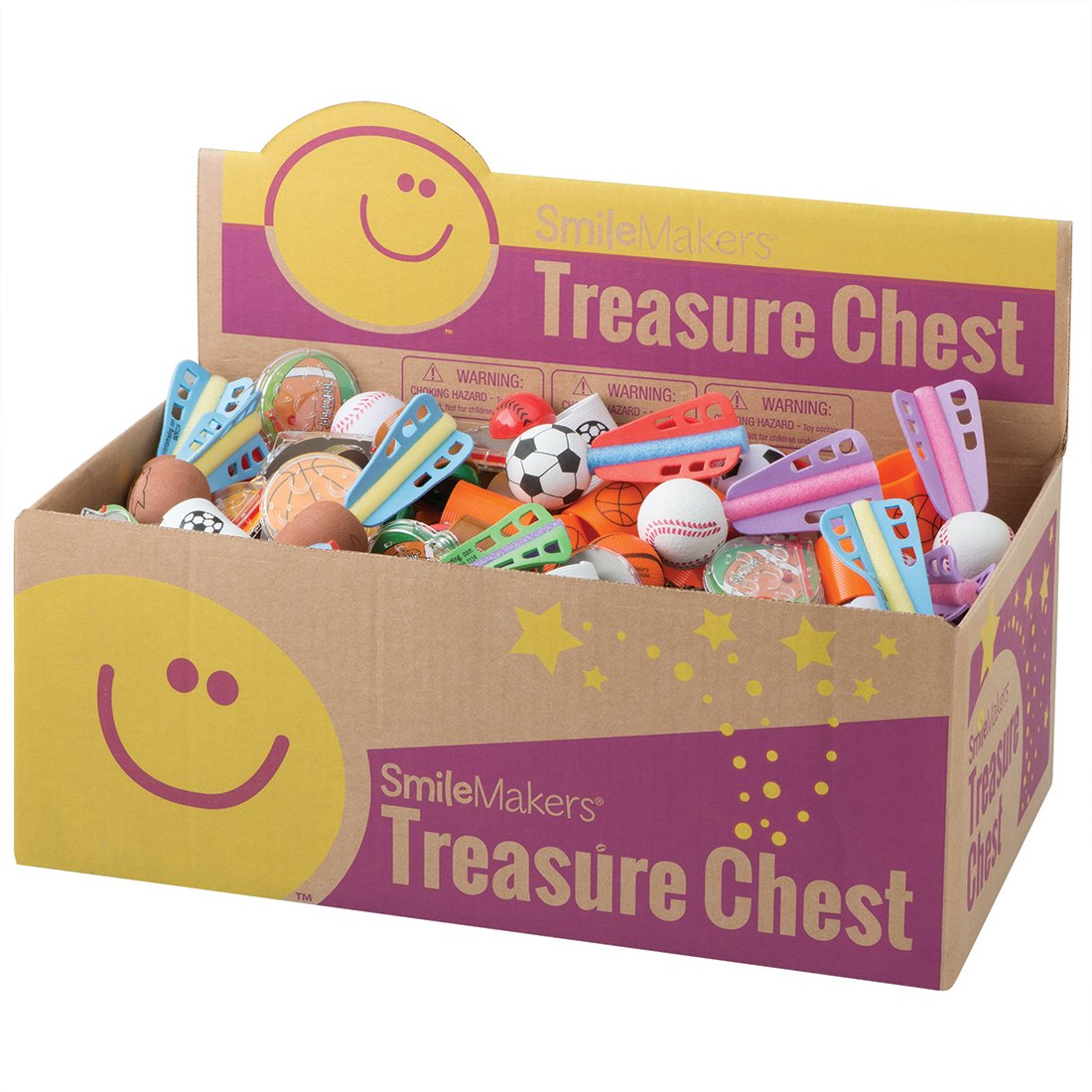 SmileMakers Sports Treasure Chest - Prizes 204 per Pack