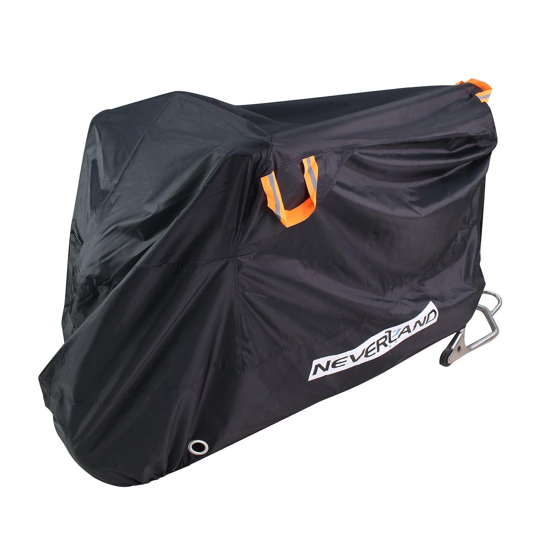 NOVSIGHT Housse de Protection Moto Bâ che Moto Impermé able avec 2 é vents Respirant en Tissu 210D Oxfords Anti-UV pour Moto Scooter Noir XL