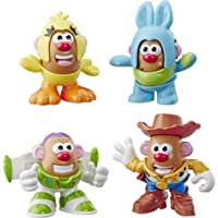 Mr. Potato Head Disney/Pixar Toy Story Mini 4 Pack Buzz, Woody, Ducky, Bunny Figures Toy For Kids Ages 2 & Up