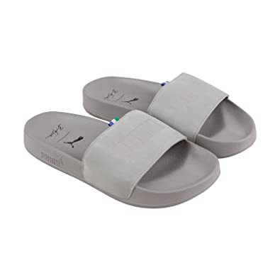 857cb3980aee PUMA Leadcat Big Sean Mens Gray Suede Slides Slip On Sandals Shoes 7
