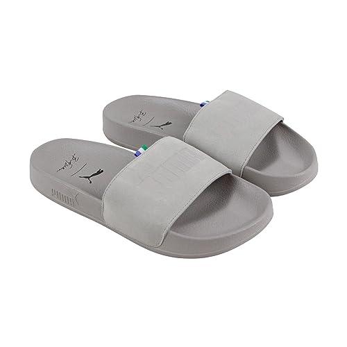 7189bd6e414d PUMA Leadcat Big Sean Mens Gray Suede Slides Slip On Sandals Shoes 7
