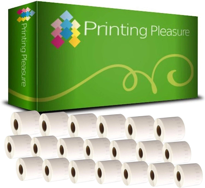 Printing Pleasure 20 x 99017 Rollen Etiketten kompatibel für Dymo LabelWriter & Seiko Etikettendrucker   50mm x 12mm   220 Stück   Hängeablageetiketten B0172AFZQ4 | Neues Produkt