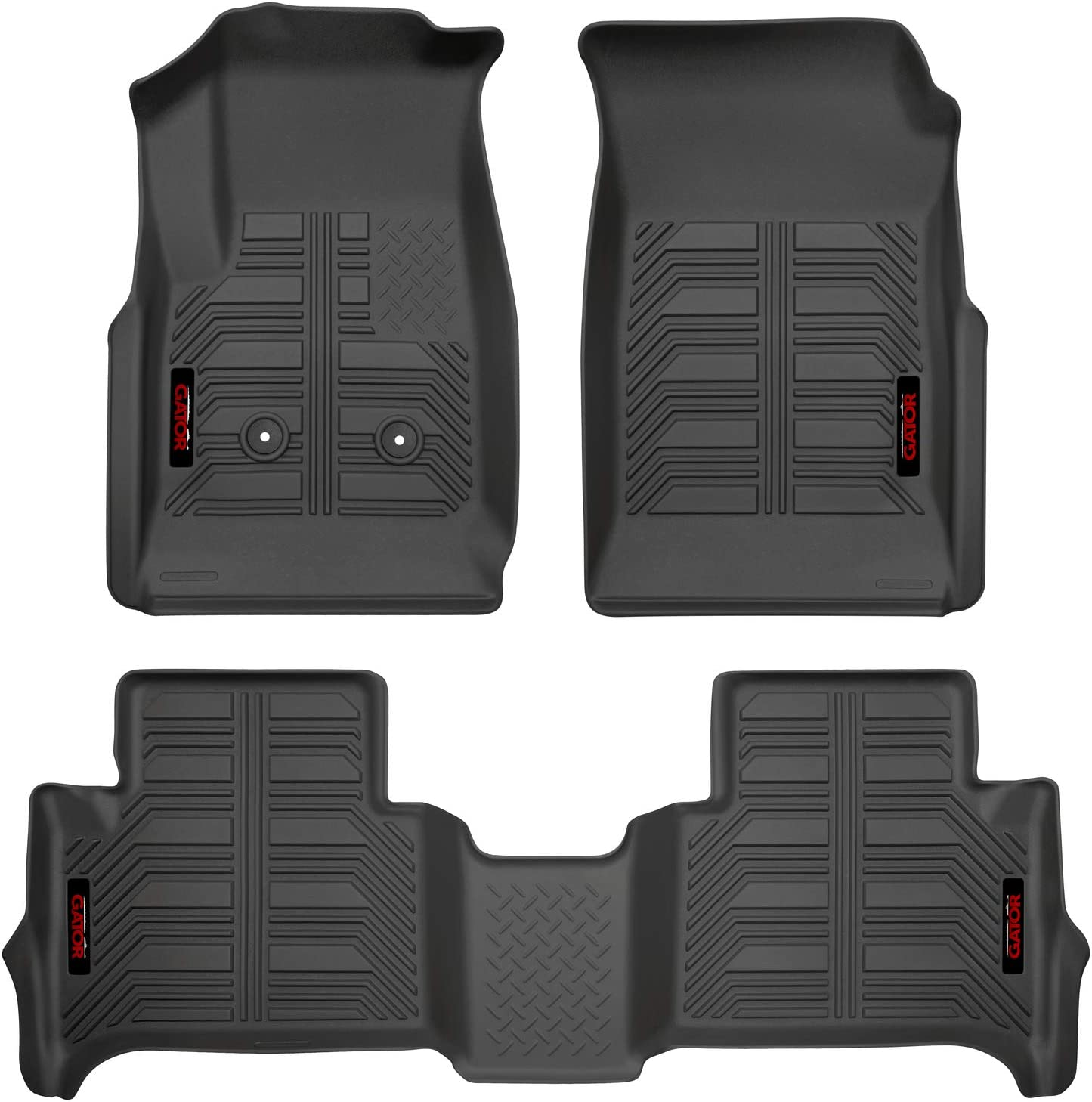 Black WeatherTech FloorLiner for Colorado//Canyon//i-Series Extended Cab 1st//2nd