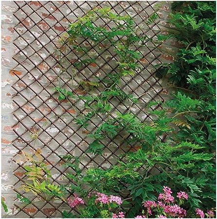 YOGANHJAT Celosia Madera Extensible Celosía de Madera Enrejado Jardín Madera Natural Resistente para Plantas De pie Valla Enrejado del Sauce Decoración de balcón marrón,100 * 67cm/39.3 * 26.3in: Amazon.es: Hogar