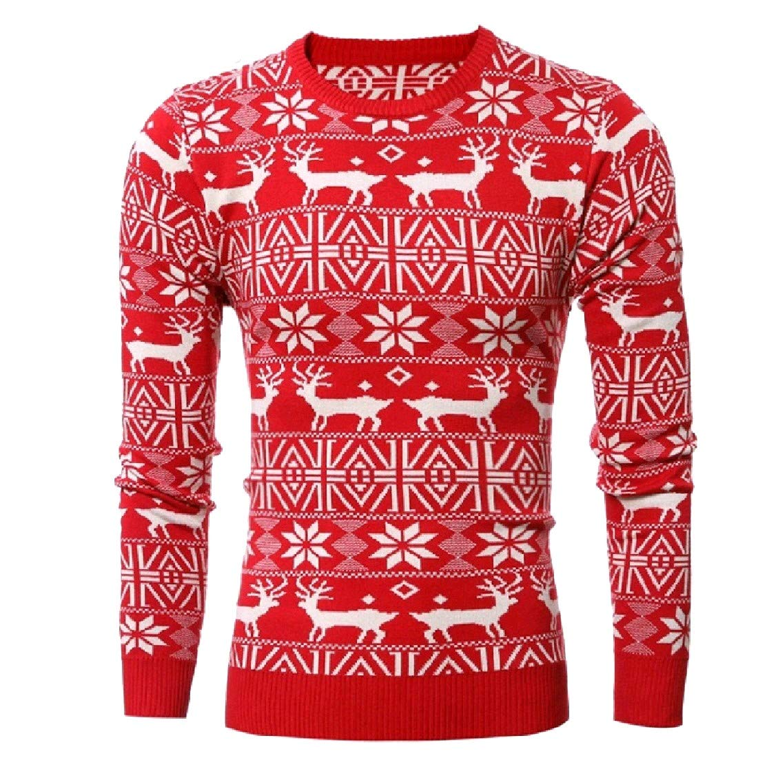 Andopa Mens Elk Christmas Pullover Christmas Day Pullover Tee Sweater