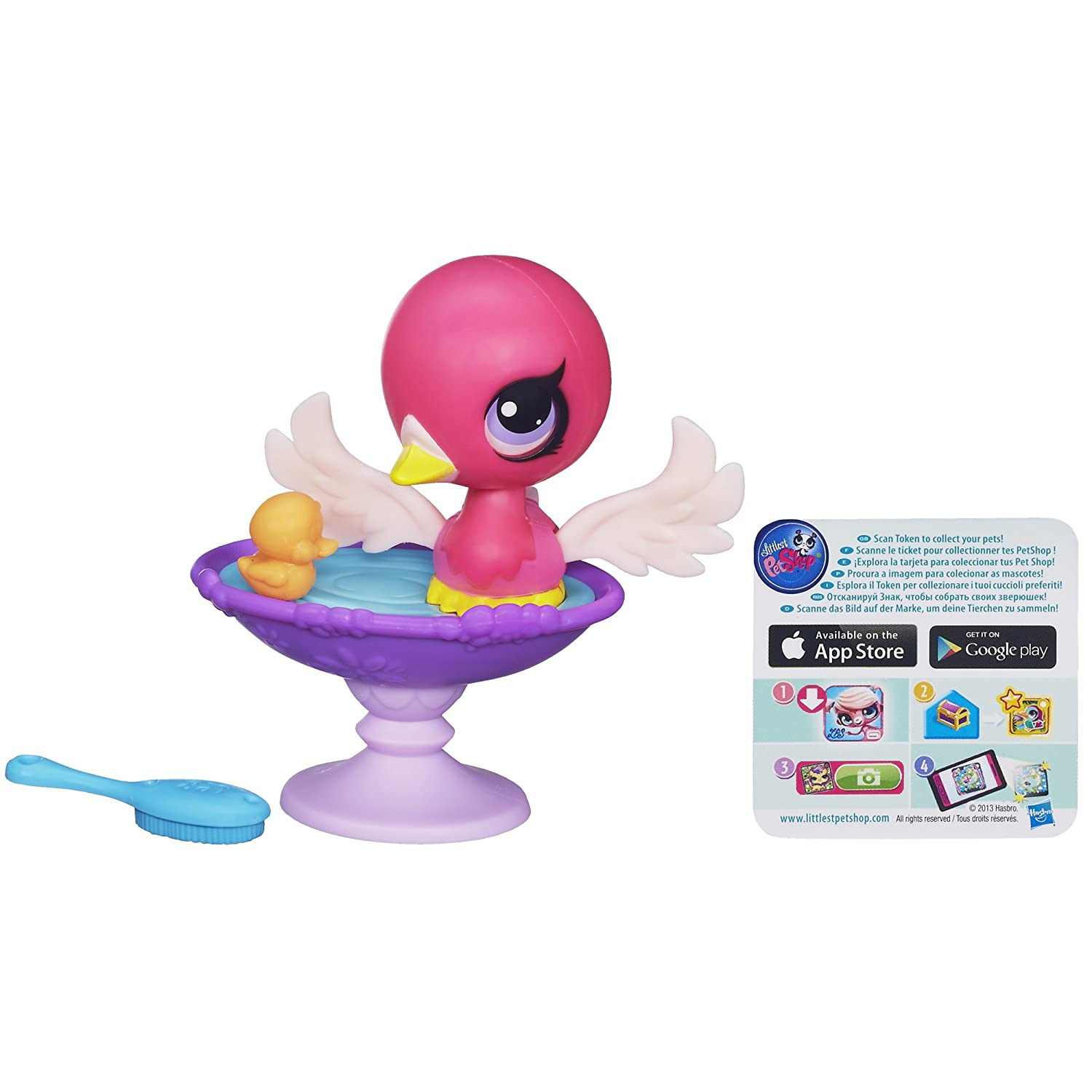 Littlest Pet Shop Splashin Swan Bath Set