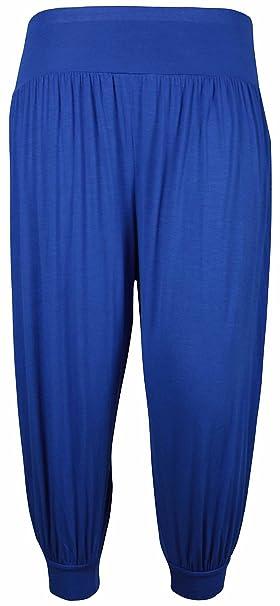 4aaa0e9339d15d Pluderhose / Baggy Pants für Damen, kurz, elastisch, große Größen,  einfarbig Gr