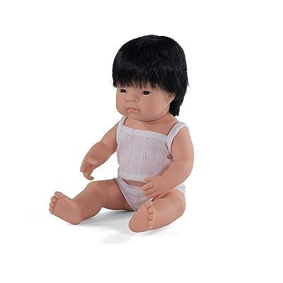 "Miniland Educational - Baby Doll Asian Boy (38 cm, 15""): Toys & Games"