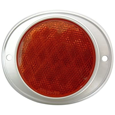 Autosmart KL-40103RE Red Round Aluminum Reflector: Automotive