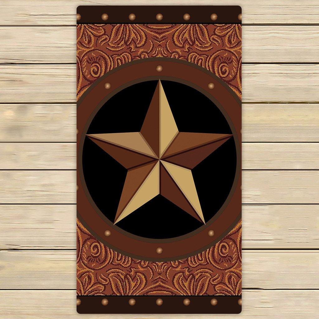 カスタムTexas Starタオル、テキサススタービーチバスタオル浴室ボディシャワータオルバスラップforホーム、アウトドアや旅行使用 30x56 inches B06Y67H4CB  30x56 inches
